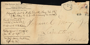"Article draft by Samuel May, ""Francis Jackson's antislavery bequest,"" to Wendell Phillips and Aaron Macy Powell, [1867?]"