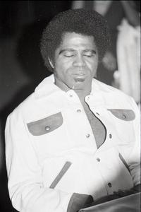 James Brown at the Sugar Shack: Brown seated at a table