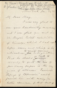 Letter from Oliver Johnson, New York, to Samuel May, Jan. 10, '88