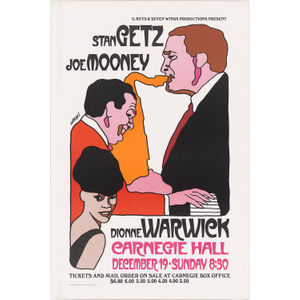 Stan Getz, Dionne Warwick and Joe Mooney