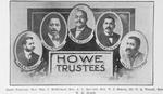 Howe Trustees: Rev. Wm. J. McMichael, Rev. A. L. Bartlett, Rev. T. J. Searey, Dr. C. A. Terrell, Rev. W. H. Heard