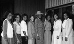 Association of Black Women Physicians event attendees posing for a group portrait, Los Angeles, 1989