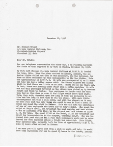 Letter from Mark H. McCormack to Lake Central Airlines, Inc.