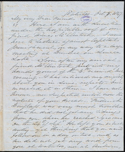 Letter from Samuel Joseph May, Waterloo, [N.Y.], to William Lloyd Garrison, Oct[ober] 8. 1847