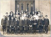 A black and white image of an unknown Massie School class from the early 1900s (Principal Gustavus J. Orr)