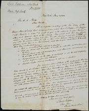 Letter to] Rev. A. A. Phelps, Dear Brother [manuscript