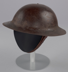 Helmet worn by Peter L. Robinson, Sr. during World War I