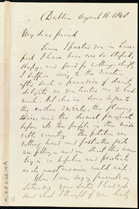 Letter from Richard Davis Webb, Dublin, [Ireland], to Maria Weston Chapman, August 16, 1848