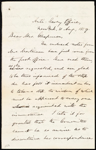 Letter from Oliver Johnson, Anti-Slavery Office, New York, to Maria Weston Chapman, 31 Aug. 1859