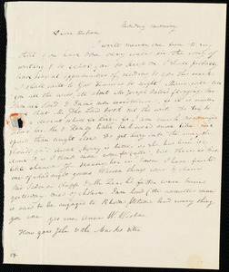 Thumbnail for Letter from Anne Warren Weston, [Weymouth?, Mass.], to Deborah Weston, [1838?]