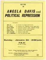 Meeting on Angela Davis and Political Repression