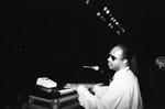 Stevie Wonder plays piano, Los Angeles, 1989