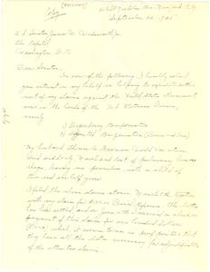 Copy of letter from Lenora Freeman to U. S. Senator James W. Wadsworth, Jr.