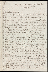 Letter from Richard Davis Webb, Greenfield, Kilgobbin, Co[unty], [Dublin, Ireland], to Anne Warren Weston, July 16, 1861