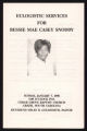 Eulogistic Services for Bessie Mae Casey Snoddy