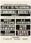 Jazz at the Philharmonic / ...19 November 19 1960 - Scheveningen - Amsterdam [Netherlands] [Black & white concert progrram.]