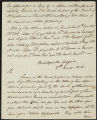 David Brydie Mitchell letter to T.W. Bacot, Bank of South Carolina, 1814