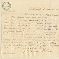 Letter from A. Brooke to Joshua Leavitt