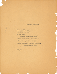 Letter from W. E. B. Du Bois to Fort Lauderdale Daily News