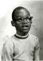 Charley Williams, nine years old. Maternal cousin. Class photograph for Percy Hughes Special Education class.