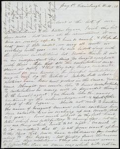 Letter from Eliza Wigham, Gray St[reet], Edinburgh, [Scotland], to Anne Warren Weston, 11-11-[18]50
