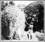 Ingeborg Guth and another girl picking peas, Tanzania, ca.1927-1938