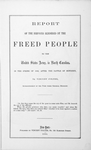 Brief report of the services rendered by the freed people to the United States Army in North Carolina : in the spring of 1862 after the battle of Newbern [title page]