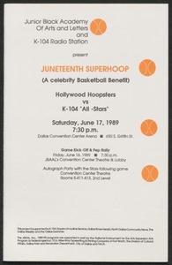 Program: Juneteenth superhoop