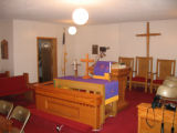 Barrs Chapel CME church: interior