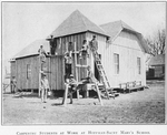 Carpentry students at work at Hoffman-Saint Mary's School; Keeling, Tennessee