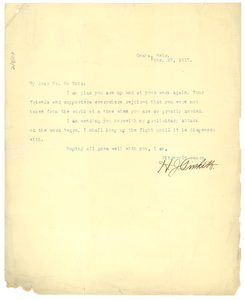 Letter from H. J. Pinkett to W.E.B. Du Bois