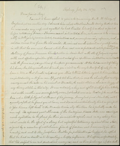 Letter from William Lloyd Garrison, Roxbury, [Mass.], to Samuel May, July 23, 1875
