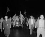 Student anti-integration demonstration on University Avenue in Tuscaloosa, Alabama.