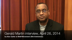 Gerald Martin, Oral history video interview for Sheff 25th anniversary (2014)