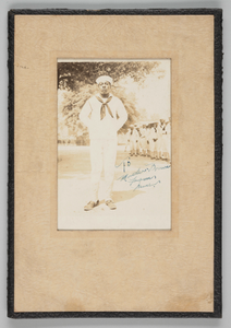 Framed photograph of an unidentified WWI sailor