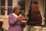 Actress in a scene from the play A raisin in the sun