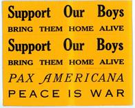 Night Raiders--Support Our Boys--Bring Them Home Alive--Pax America--Peace Is War