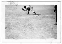 A Baseball Player Catching a Ball, circa 1942