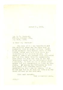 Letter from W. E. B. Du Bois to J. H. Sherwood