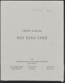 Press release and biography for Nat King Cole, November 1964
