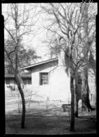 Chimney end view of old slave quarters, Waterhouse home (Crofut)