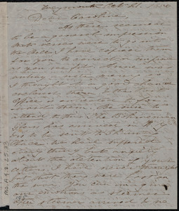 Letter from Deborah Weston, Weymouth, [Mass.], to Caroline Weston, Oct. 21, 1850
