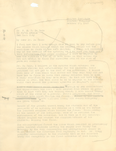 Letter from Louise A. Thompson to W. E. B. Du Bois