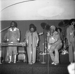 Musical group performing on stage, Los Angeles
