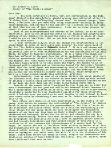 Letter from Fielding Ford to the Editor of Public Journal