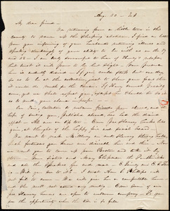 Letter from Abby Kelley Foster, [Millbury, Mass.], to Maria Weston Chapman, Aug. 10, [1841?]