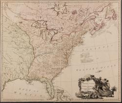 The United States of North America with the British & Spanish territories according to the treaty / engrav'd by Wm. Faden.