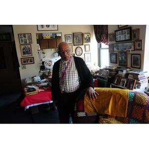 Reverend Chauncy Moore in his living room.