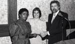 California Pharmacists Association award presentation, Los Angeles, 1986