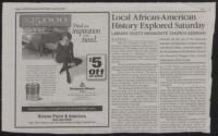 Local African-American History Explored Saturday [Watauga Mountain Times, April 24, 2003]
